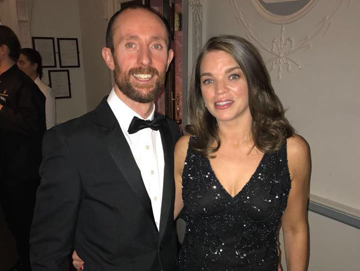 Aoife Clarke, Commercial Director and husband, Kevin at the NRF Awards