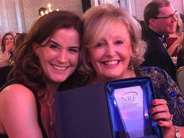 Eileen Moloney, Head of Marketing & Barbara McGrath, MD with Brightwater's Best Agency (Online) Award