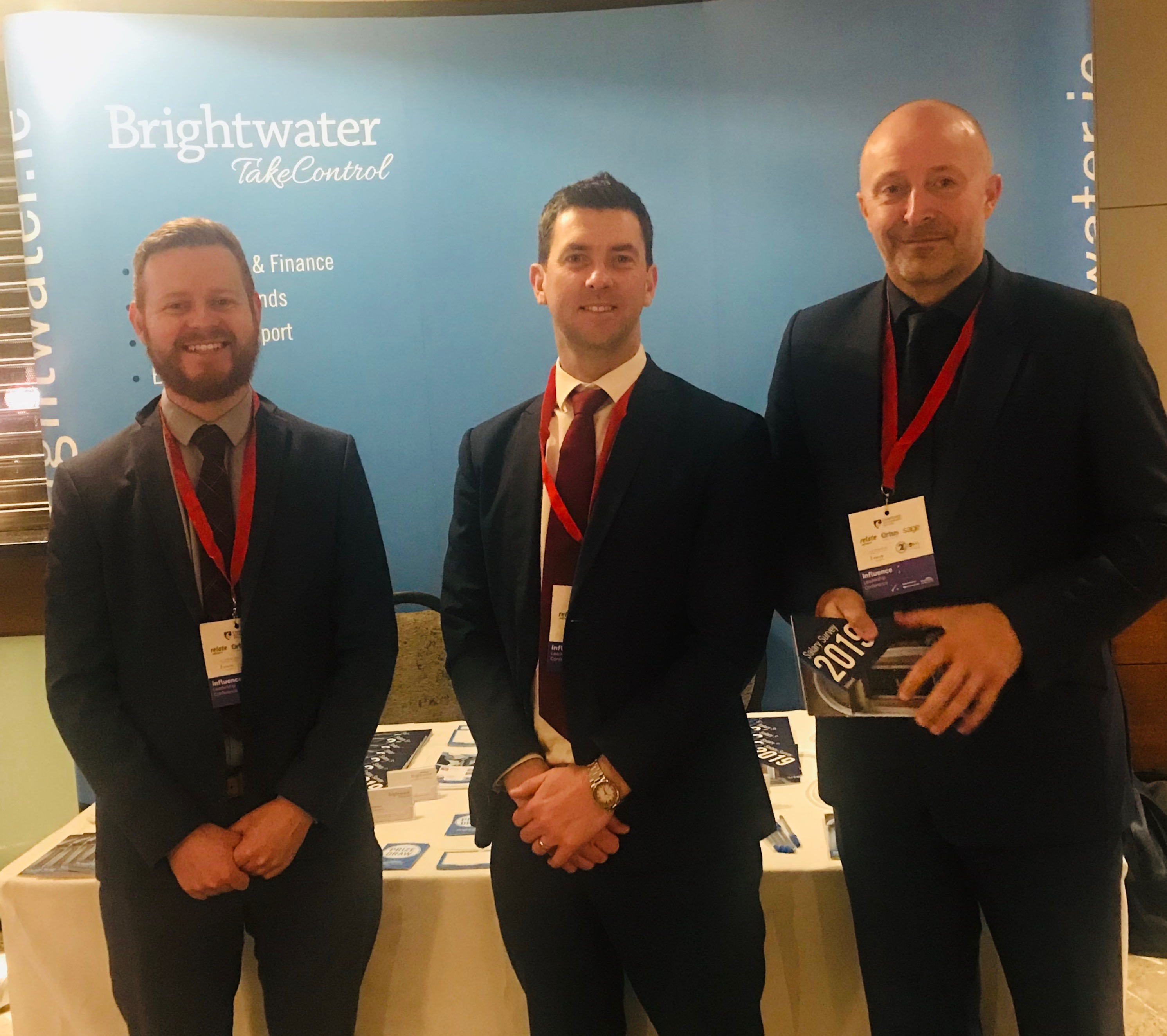 Brightwater Commercial Director Tom Wilkinson with Brightwater consultants Simon Lehane and Simon Morris