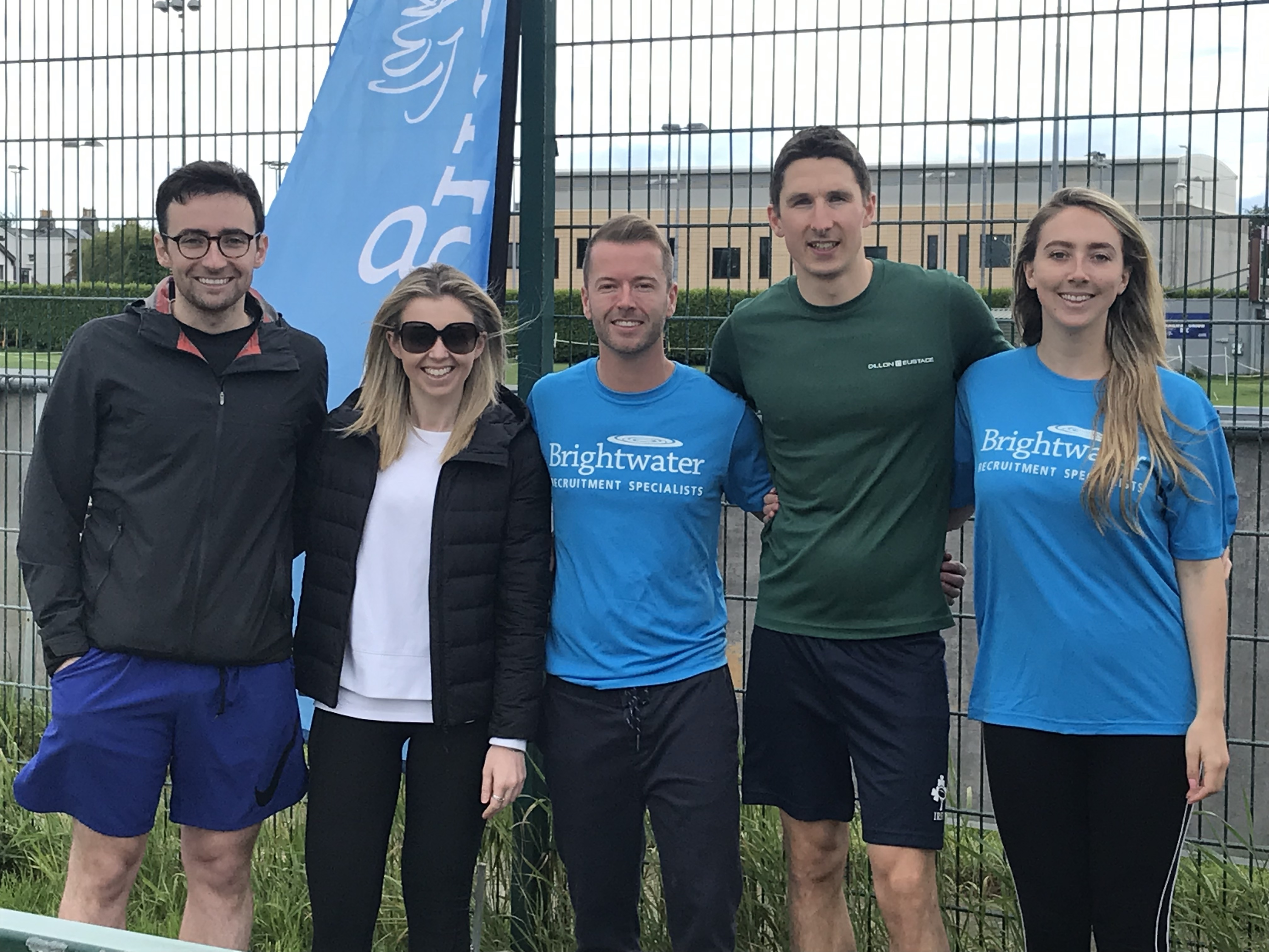 Brightwater's Legal Team Mike Minogue, Sorcha Corcoran with SYS chair Alex Kennedy, committee members James Reidy & Rachel Fitzsimons