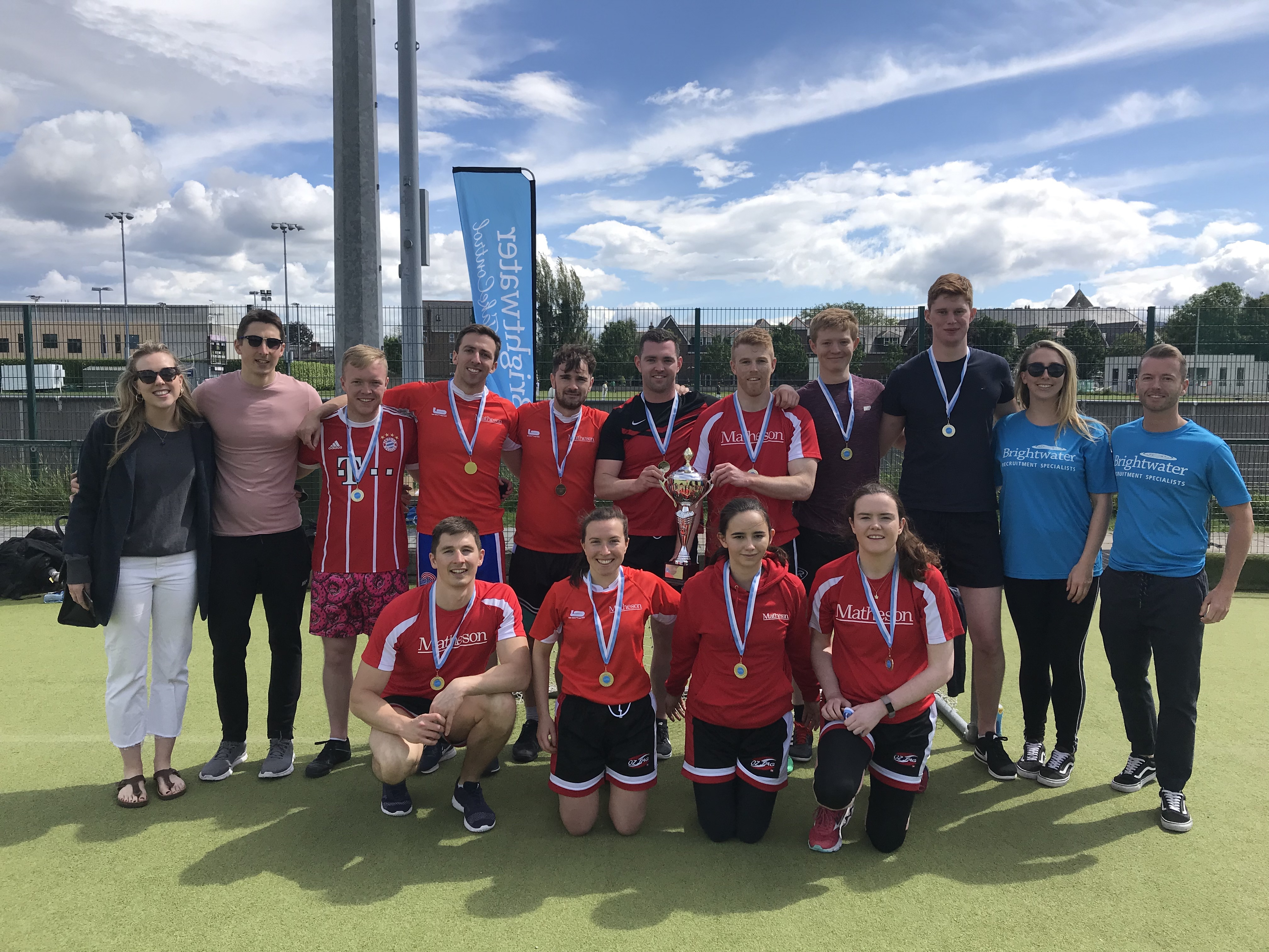Winners of the SYS Tag Rugby 2019 Matheson Law