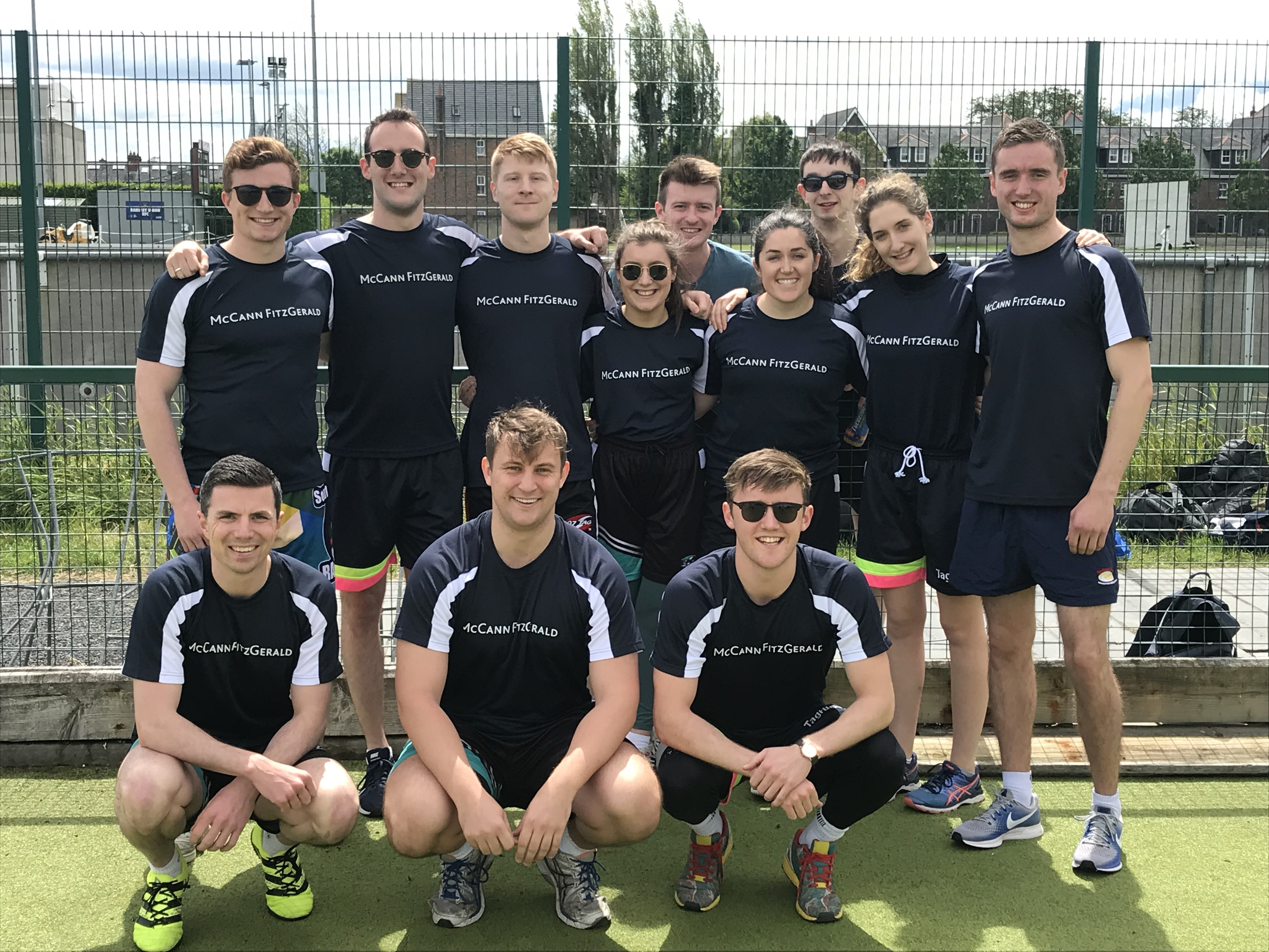 McCann Fitzgerald team at SYS tag rugby tournament 2019