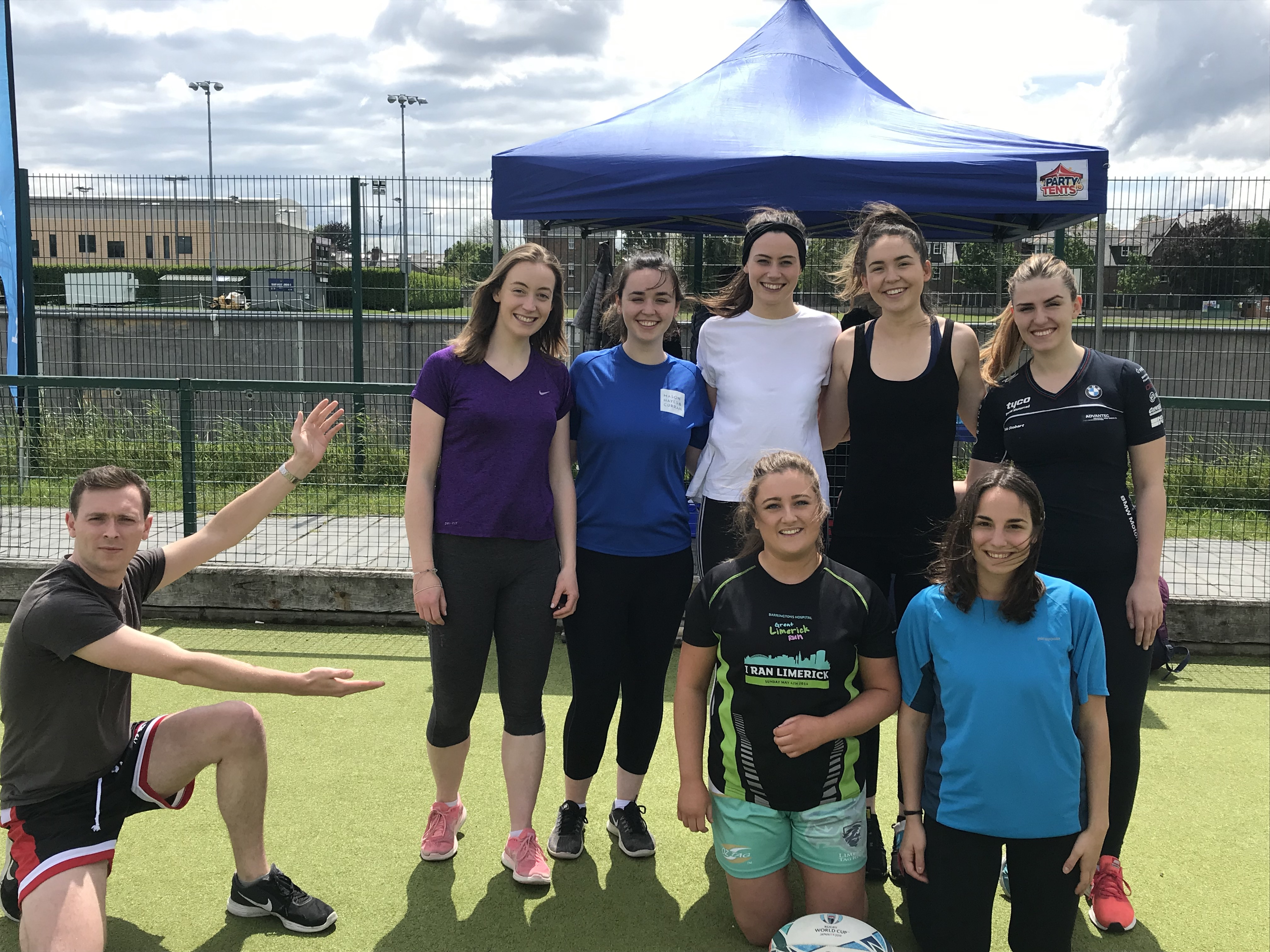 Mason Hayes Curran team at SYS Tag Rugby Tournament 2019