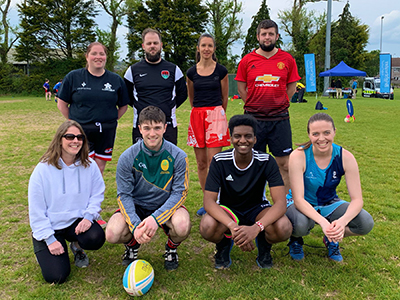 Paul O'Donovan & Associates Chartered Accountants at the Chartered Accountants Cork Society Tag Rugby Tournament sponsored by Brightwater in Cork Constitution FC