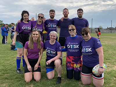 Team Grant Thornton at the Chartered Accountants Cork Society Tag Rugby Tournament sponsored by Brightwater in Cork Constitution FC