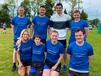 Team Moore Stephens at the Chartered Accountants Cork Society Tag Rugby Tournament sponsored by Brightwater in Cork Constitution FC