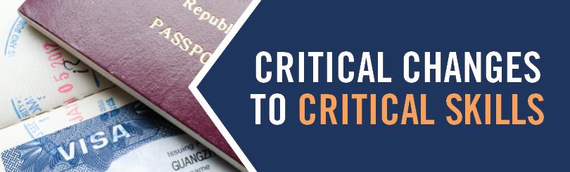 Changes to Critical Skills Visa