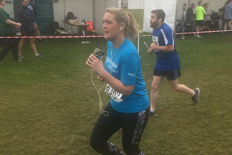 Louise runs at the PWC Staff Relay