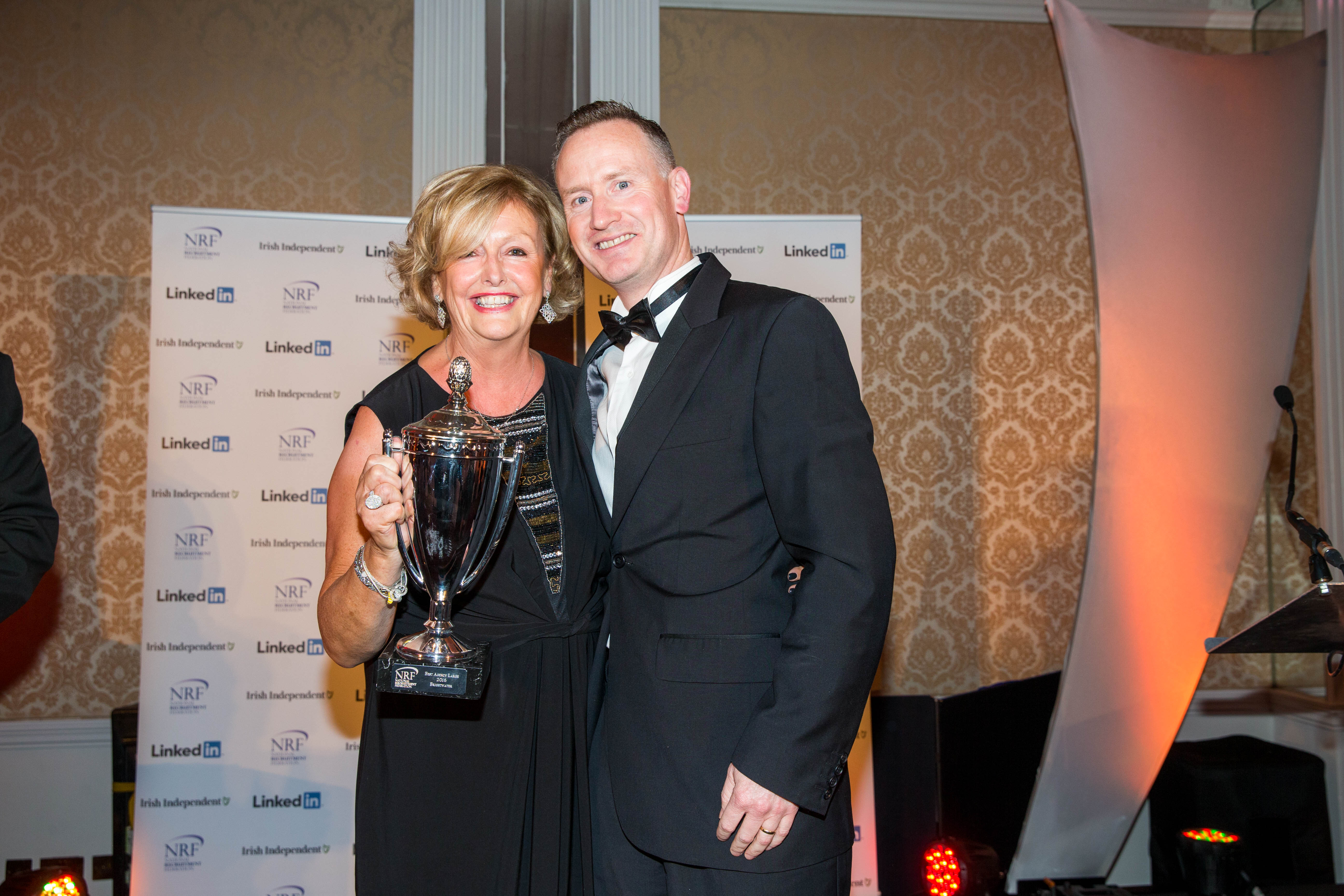 Barbara McGrath and John O Donnell from Brightwater - winners of Agency of the year Award