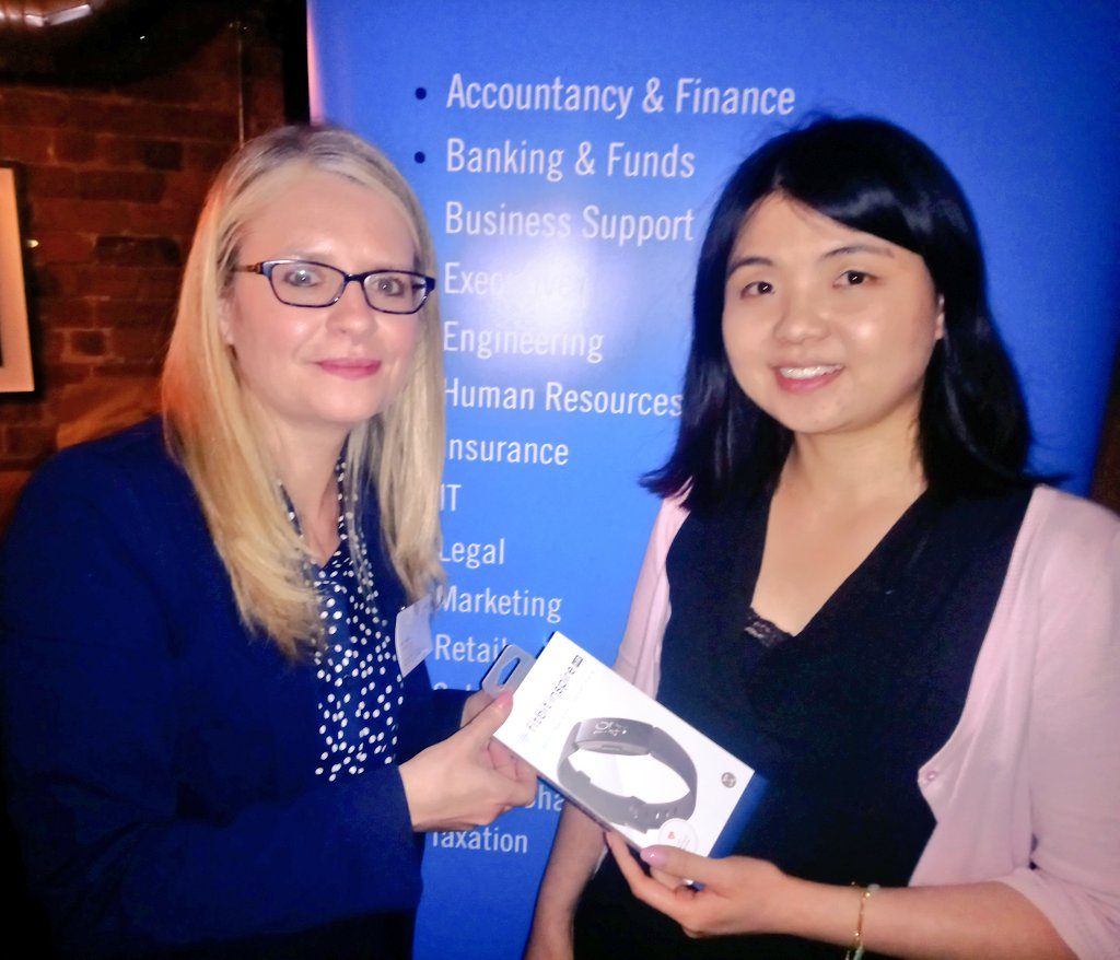 Brightwater's Jean O'Donovan, Commercial Director (Accountancy) with Prize Draw Winner Vienna