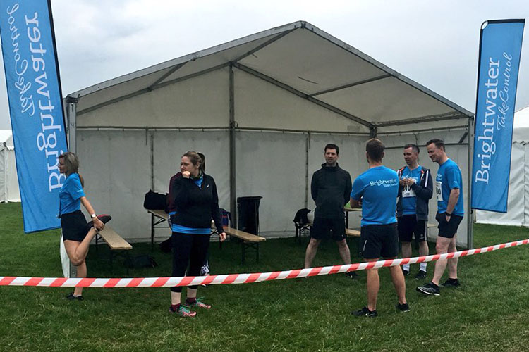 Pre-run nerves before the Staff Relay
