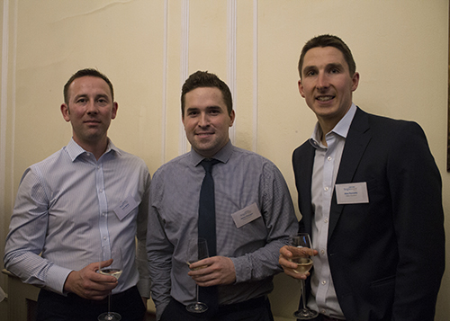 3 clients enjoy a glass of white at the Brigtwater Wine Evening