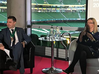 STephen O'Flaherty Chair ACCA & Guest Speaker Sinead Bryan